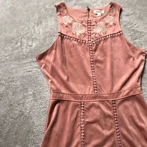 Taylor & Sage Light Pink Faux Suede Dress NWT
